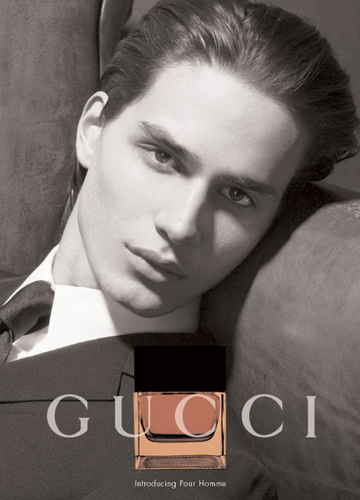 David Smith in an ad of gucci