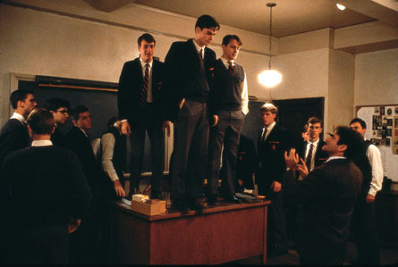 Dead Poets Society wallpaper containing a business suit, a suit, and a dress suit called Dead Poets Society