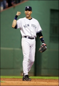 Derek Jeter 壁紙 containing an infielder, a first baseman, and a ballplayer called Derek Jeter