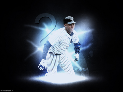 Derek Jeter Hintergrund possibly containing a ballplayer, a concert, and a right fielder entitled Derek Jeter