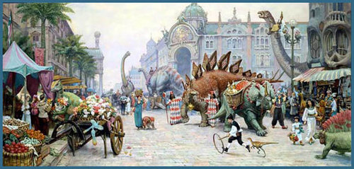 Dinosaur Boulevard - dinotopia Photo