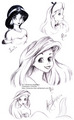 Disney Princesses Drawing - classic-disney fan art