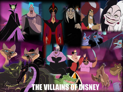 Penjahat Disney kertas dinding called Disney Villains kertas dinding