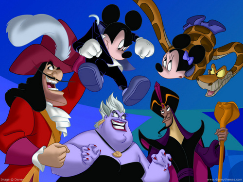 Disney Villains karatasi la kupamba ukuta possibly containing anime titled Disney Villains