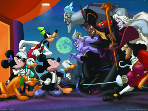 Disney Villains achtergrond containing anime entitled Disney Villains