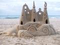 Dolphin sand castle