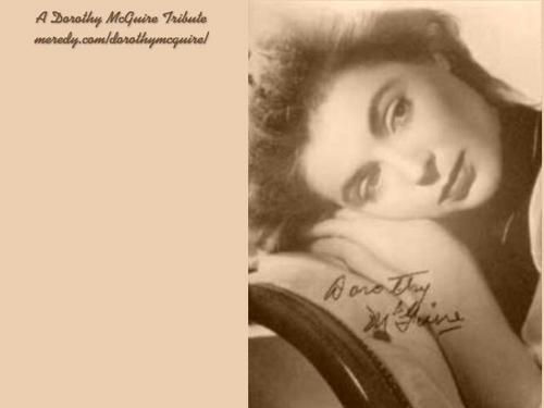 Dorothy McGuire w'paper