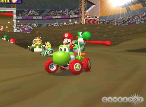Mario Kart 바탕화면 titled Double Dash Screens