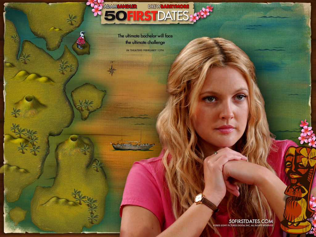 Drew barrymore 50 first dates in Australia