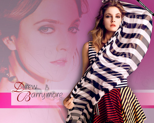 Drew Barrymore wallpaper probably containing a parasol, a nightwear, and a playsuit titled Drew