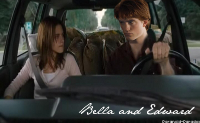 Edward and Bella wallpaper possibly containing an automobile titled Edward and Bella