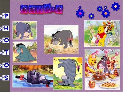 winnie the pooh wallpaper possibly with anime called Eeyore & friends w'paper