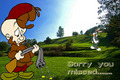 Elmer tries to shoot bugs - looney-tunes photo