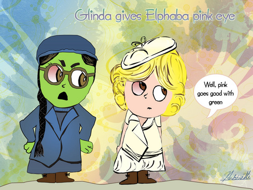 Wicked wallpaper with anime entitled Elphaba & Glinda