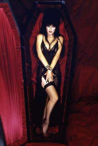 Horror films achtergrond titled Elvira, Mistress Of The Dark