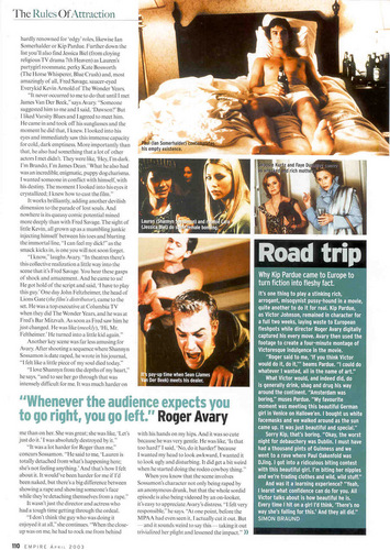 Empire Magazine artikel Apr 03