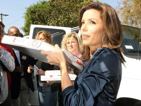 Eva Longoria shows support