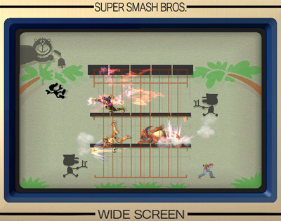 Super Smash Bros. Brawl karatasi la kupamba ukuta called Flat Zone 2