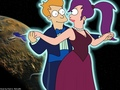 Fry & Leela - futurama wallpaper