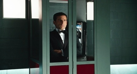 Get Smart (2008 Movie) Hintergrund possibly containing a telephone booth, a revolving door, and a business suit called Get Smart Phone Booth
