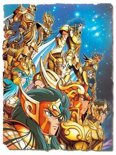 Saint Seiya (Knights of the Zodiac) fondo de pantalla entitled oro Saints
