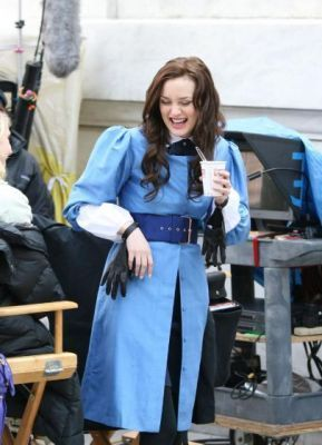 Gossip Girl on set