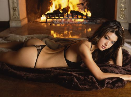 Grace Park wallpaper containing a fire and a fire titled Grace Park - Maxim 2005