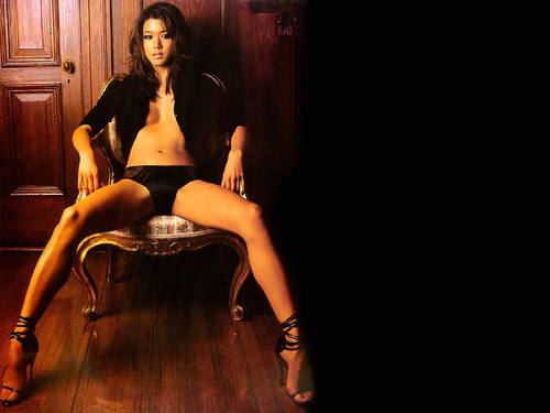 grace park fondo de pantalla possibly containing attractiveness, a lingerie, and a media, media de la entitled Grace Park - Maxim 2005