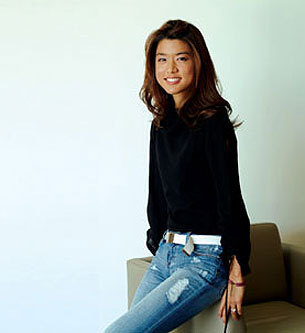 Grace Park wallpaper with bellbottom trousers, a pantleg, and a hip boot called Grace Park
