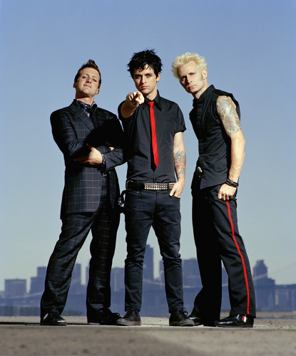 Green Day wallpaper containing a business suit, a well dressed person, and a suit entitled Green Day