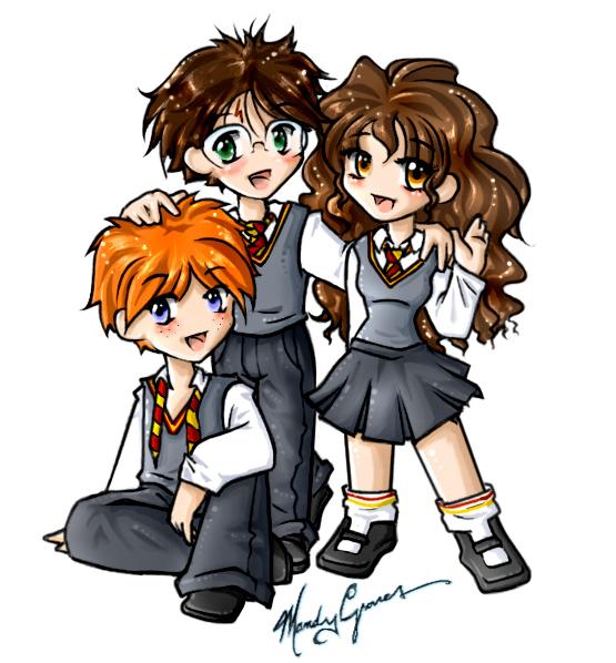HP Fanart The Trio