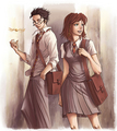 Harry Potter fan Art; James and Lily