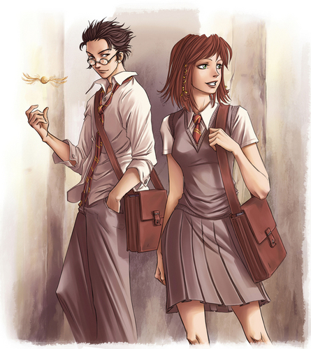 Harry Potter অনুরাগী Art; James and Lily