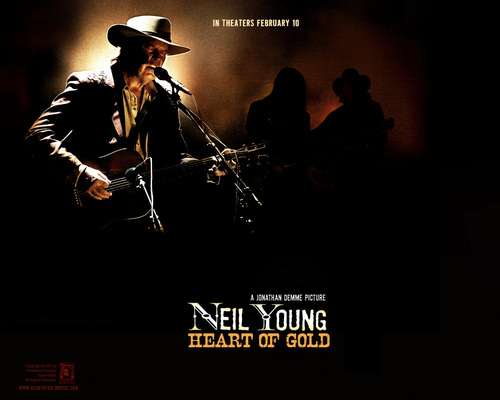 Neil Young দেওয়ালপত্র containing a fedora, a concert, and a campaign hat entitled হৃদয় of স্বর্ণ