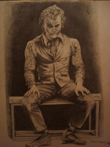 Heath Ledger as The Joker - batman Fan Art
