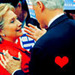 Hillary & Bill Clinton - us-democratic-party icon