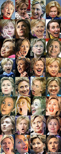 U.S. Republican Party پیپر وال entitled Hillarys Many Faces