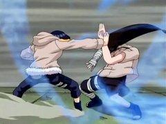 Hinata fights Neji