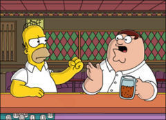The Simpsons Vs Family Guy wolpeyper entitled Homer Vs Peter