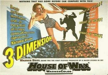 Vincent Price wallpaper entitled House Of Wax lobby card