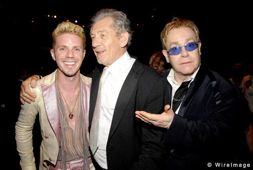 Ian McKellen and Elton John