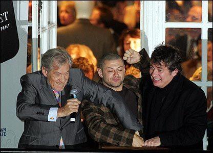 Ian McKellen with Co-stars