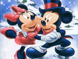 In the snow - mickey-and-minnie Photo