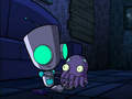 Gir with a squid.