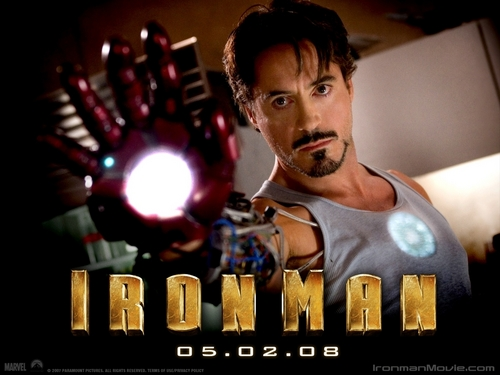 robert_downey_jr. wallpaper possibly with a sign titled Iron Man- Robert Downey Jr.