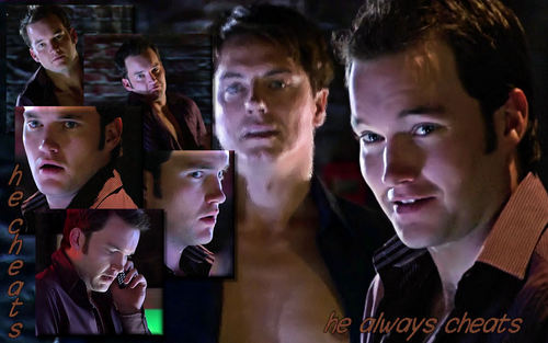 Torchwood wolpeyper possibly containing a portrait entitled Jack & Ianto
