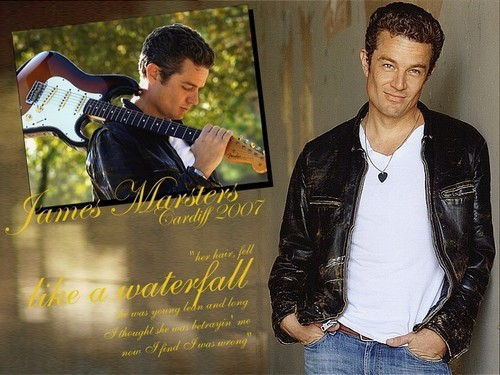 James Marsters wallpaper probably with a business suit, a sign, and a well dressed person called James