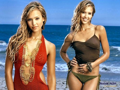 jessica alba wallpaper containing a maillot and a pakaian renang, baju renang entitled Jessica