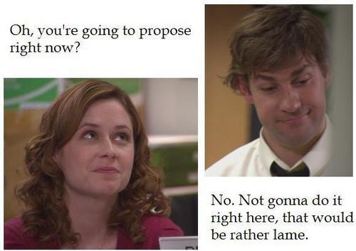Jim & Pam (Chair Lady) #2