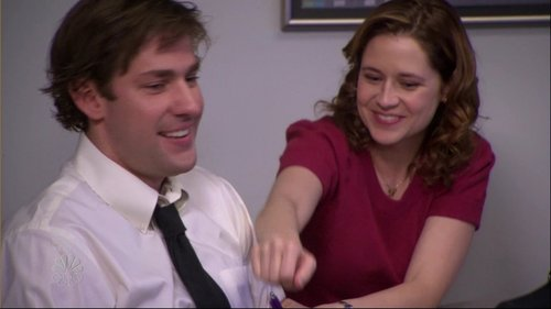 TV Couples Wallpaper Titled Jim Pam The Office